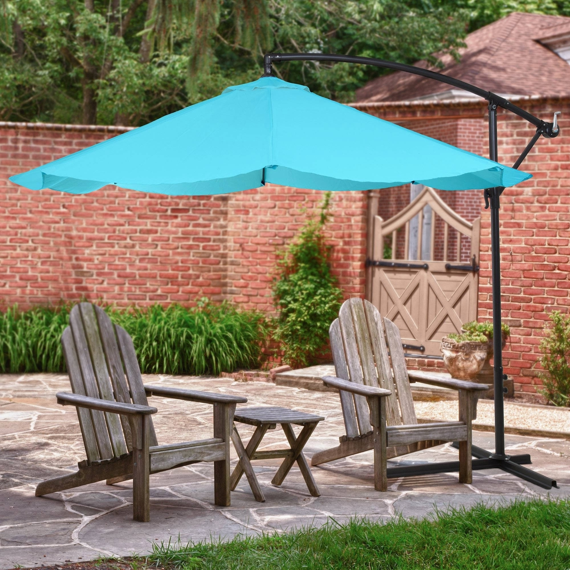 Unusual Patio Umbrellas Inside Widely Used Teal Patio Umbrella Unique Fset Umbrellas Huge Discounts On Fset (Gallery 14 of 20)