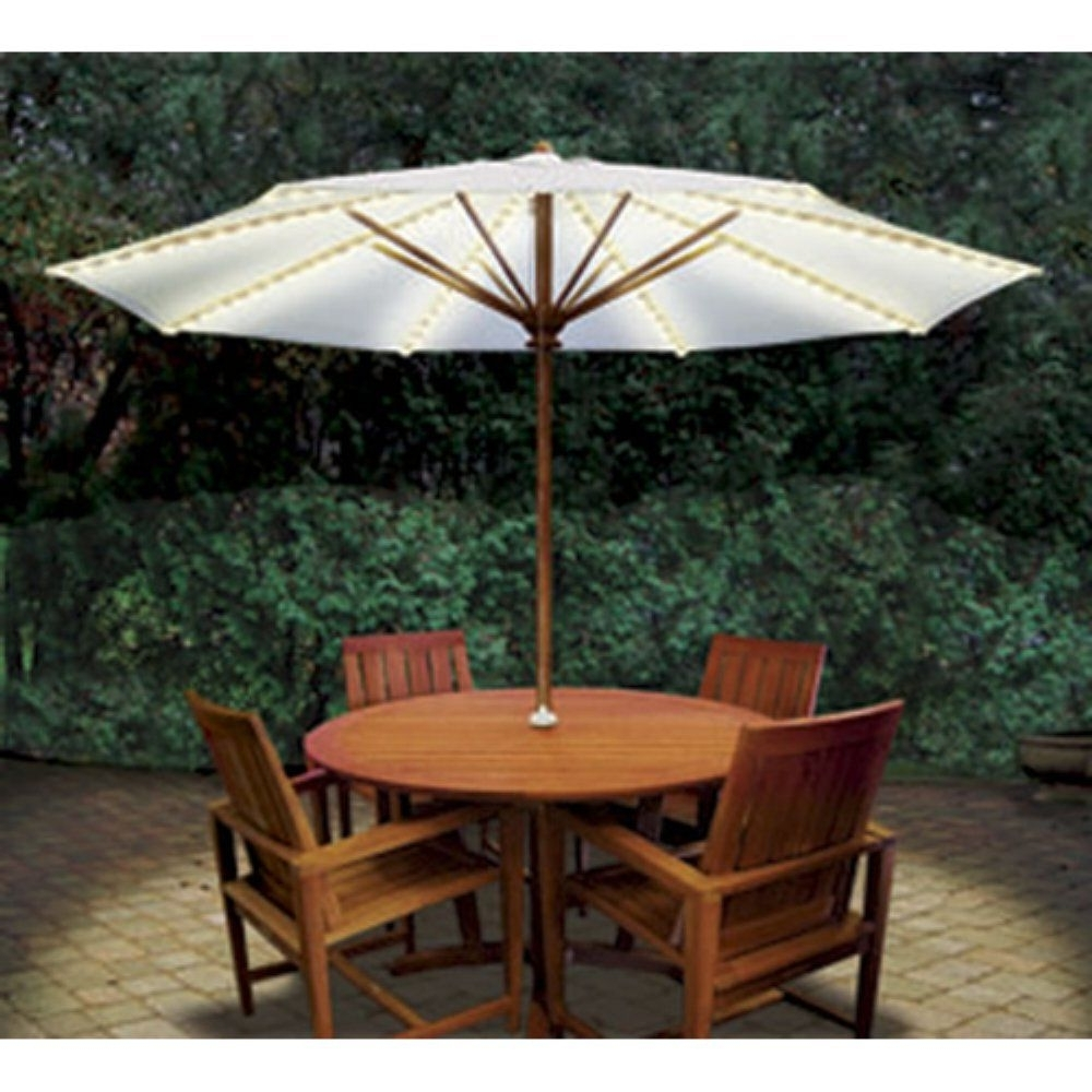 Unusual Patio Umbrellas Intended For Most Up To Date Brella Lights® Patio Umbrella Lighting System With Power Pod – Gi (View 19 of 20)