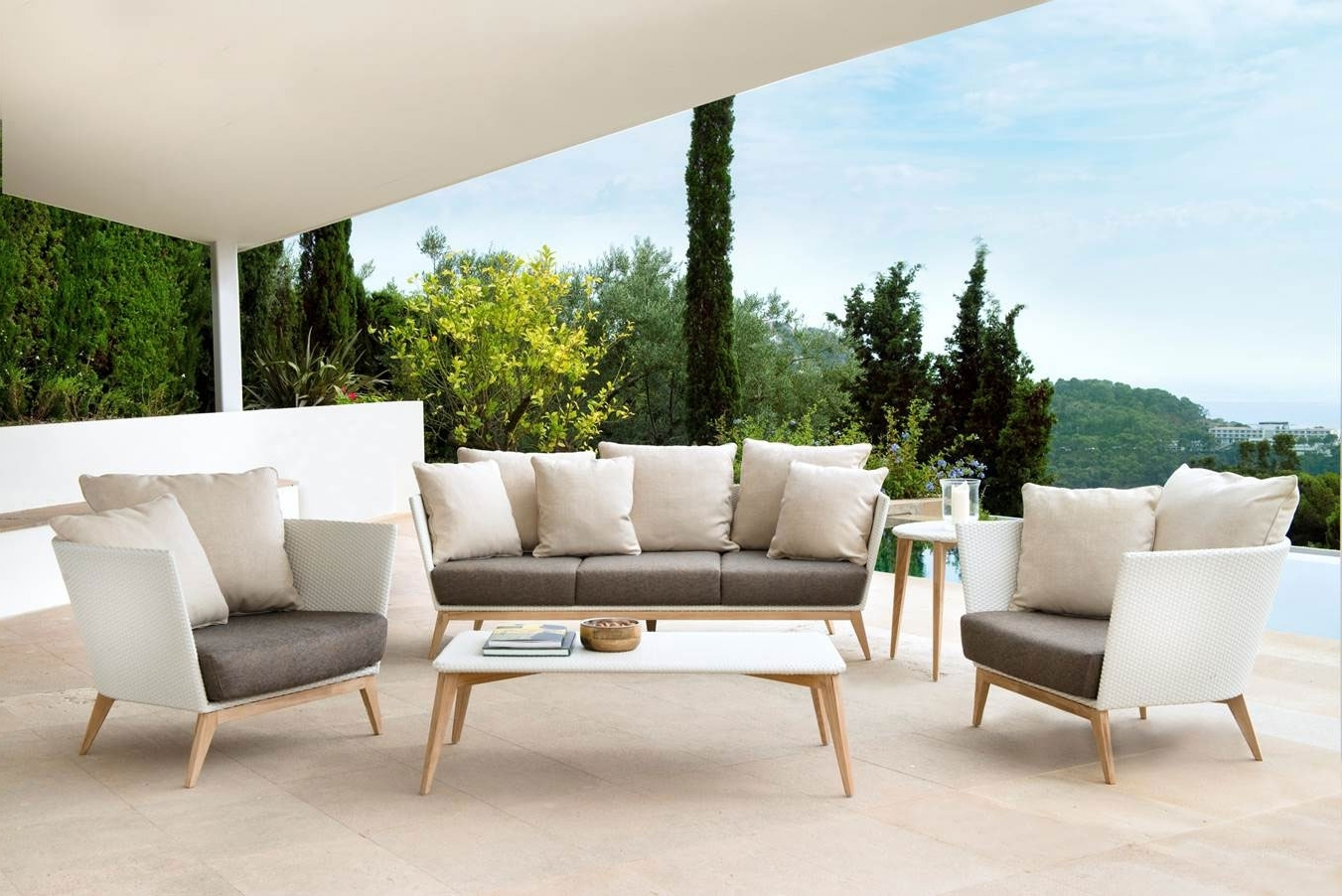 Upscale Patio Umbrellas In Latest Patio: Cool Luxury Patio Furniture Best Outdoor Furniture, High End (Gallery 18 of 20)
