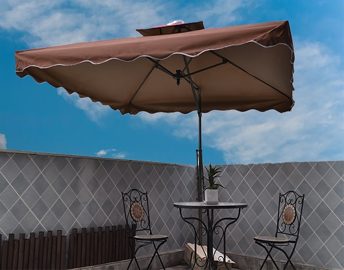 Vented Patio Umbrellas Regarding Recent Tylor's Garden 8 1/2 Ft Cantilever Outdoor Patio Umbrella, Uv (View 20 of 20)