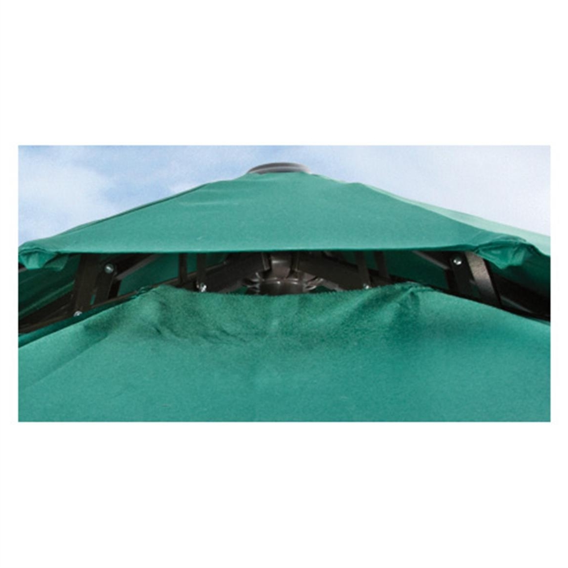 Vented Patio Umbrellas With Popular Castlecreek 9' Two Tier Patio Umbrella With Crank – 581840, Patio (View 7 of 20)