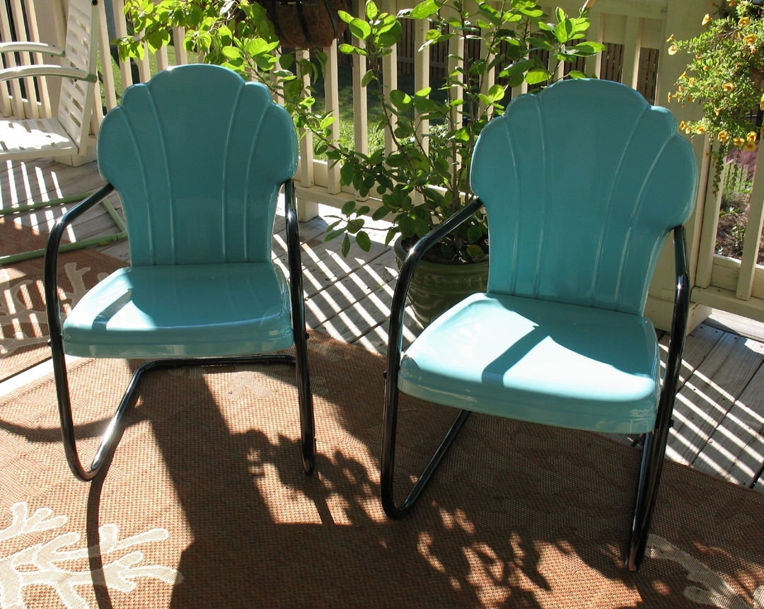 Vintage Patio Umbrellas For Sale Throughout Most Popular Decor Of Retro Patio Chairs Vintage Iron Patio Furniture Enter Home (View 5 of 20)