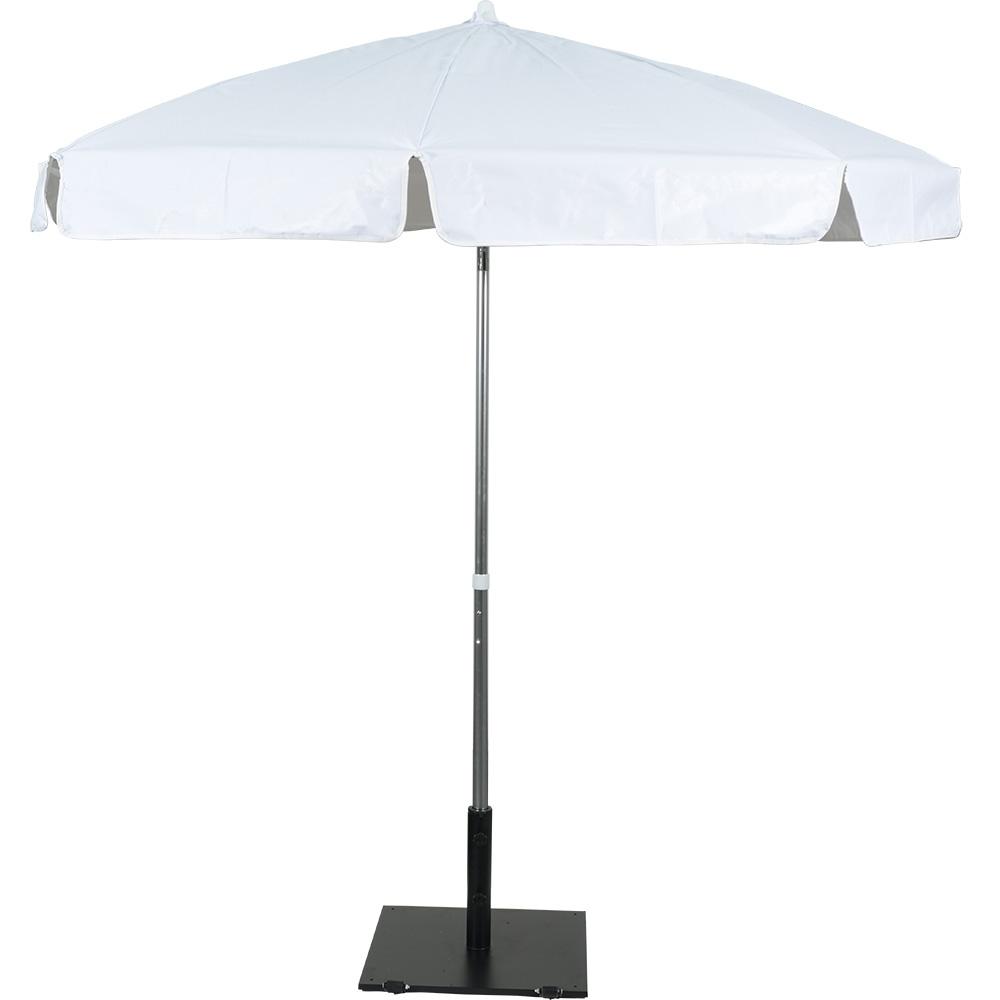 Vinyl Patio Umbrellas In Most Up To Date 7.5' Anodized Aluminum Patio Umbrella White Vinyl,ap75Whvn,octagonal (Gallery 7 of 20)