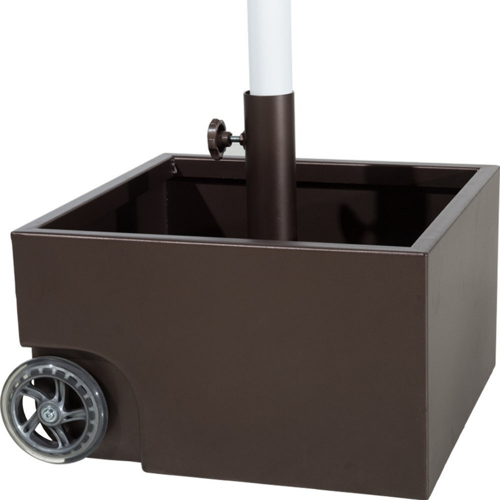 Well Known Abba Patio 30Lbs Stainless Steel Sand Filled Square Umbrella Base Intended For Patio Umbrella Stands With Wheels (View 18 of 20)
