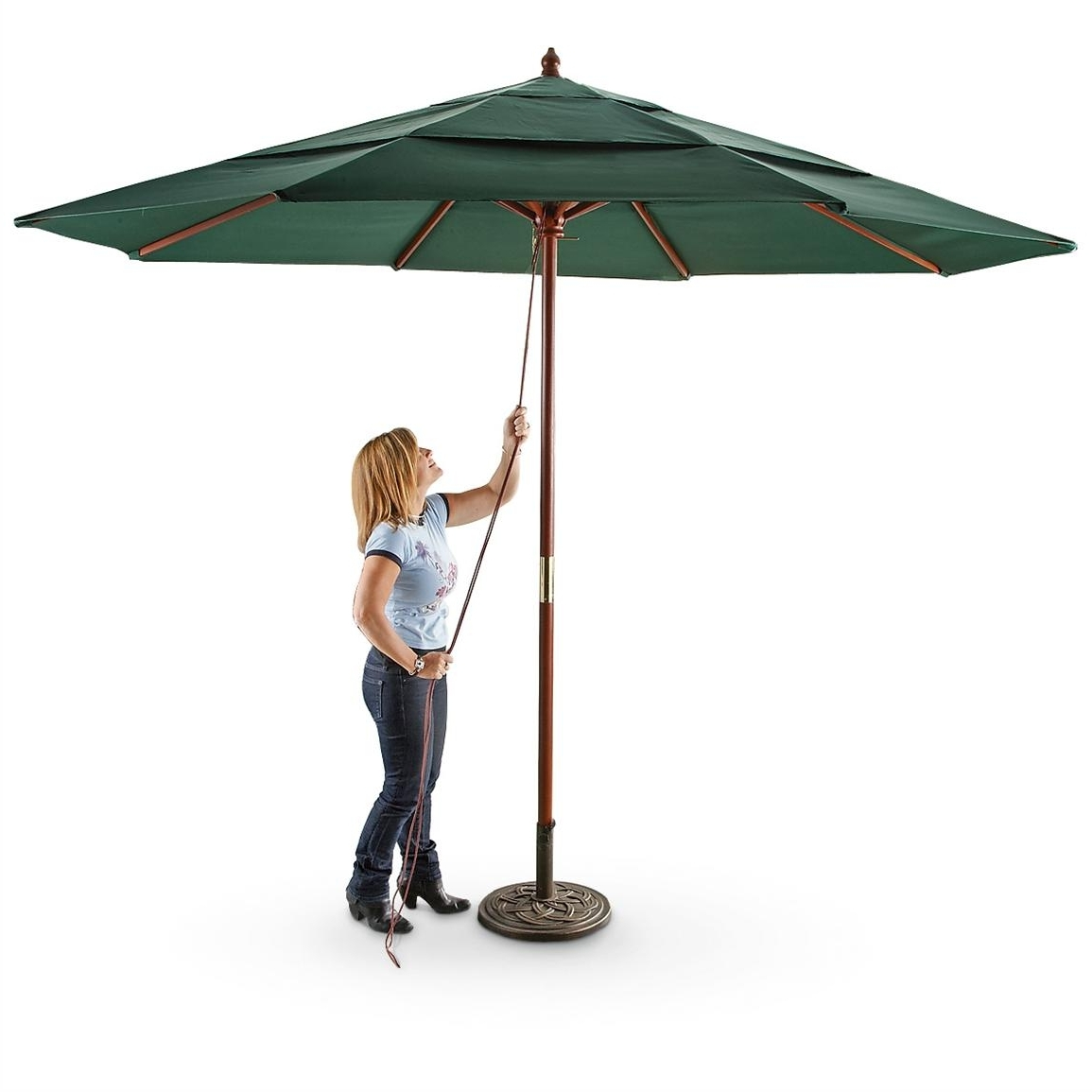 Well Known Drape Patio Umbrellas Throughout 39 Patio Umbrellas Com, Shop Blue Wave Catalina Champagne Market (View 20 of 20)