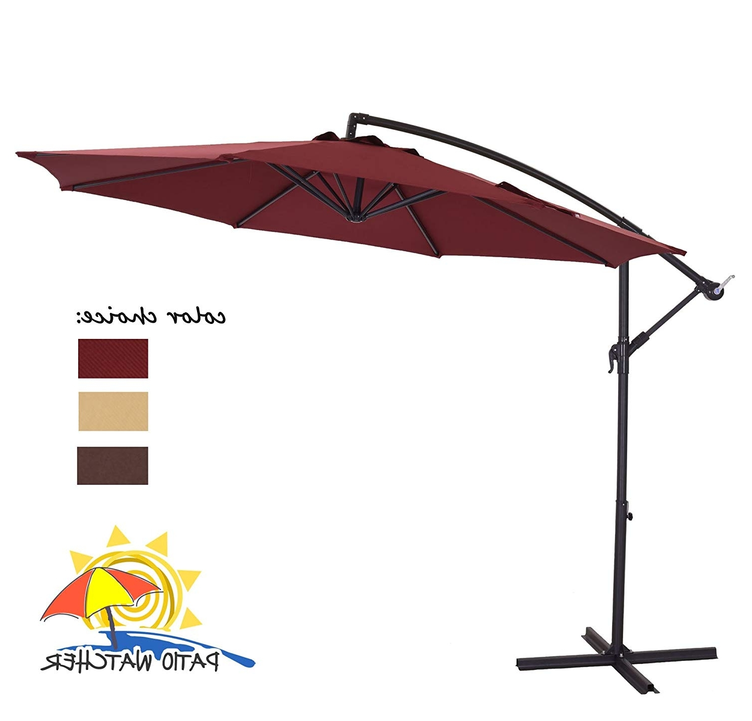 Well Known Eclipse Patio Umbrellas Intended For 50 Amazon Patio Umbrellas, Offset Umbrella Base Diy In Pelling Metal (View 10 of 20)