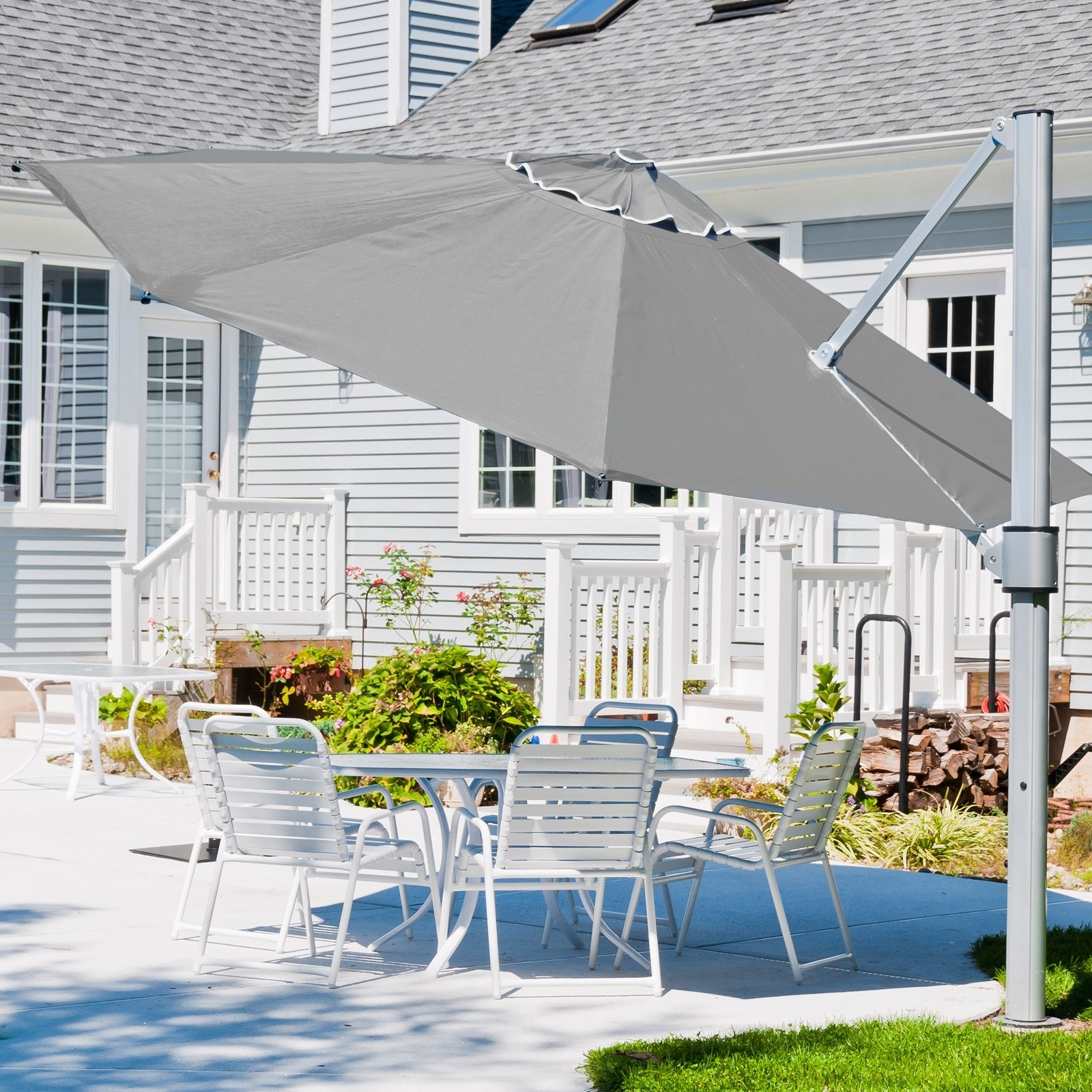 Well Known Eclipse Patio Umbrellas Within Frankford Umbrella Eclipse Series 13 Ft (View 19 of 20)