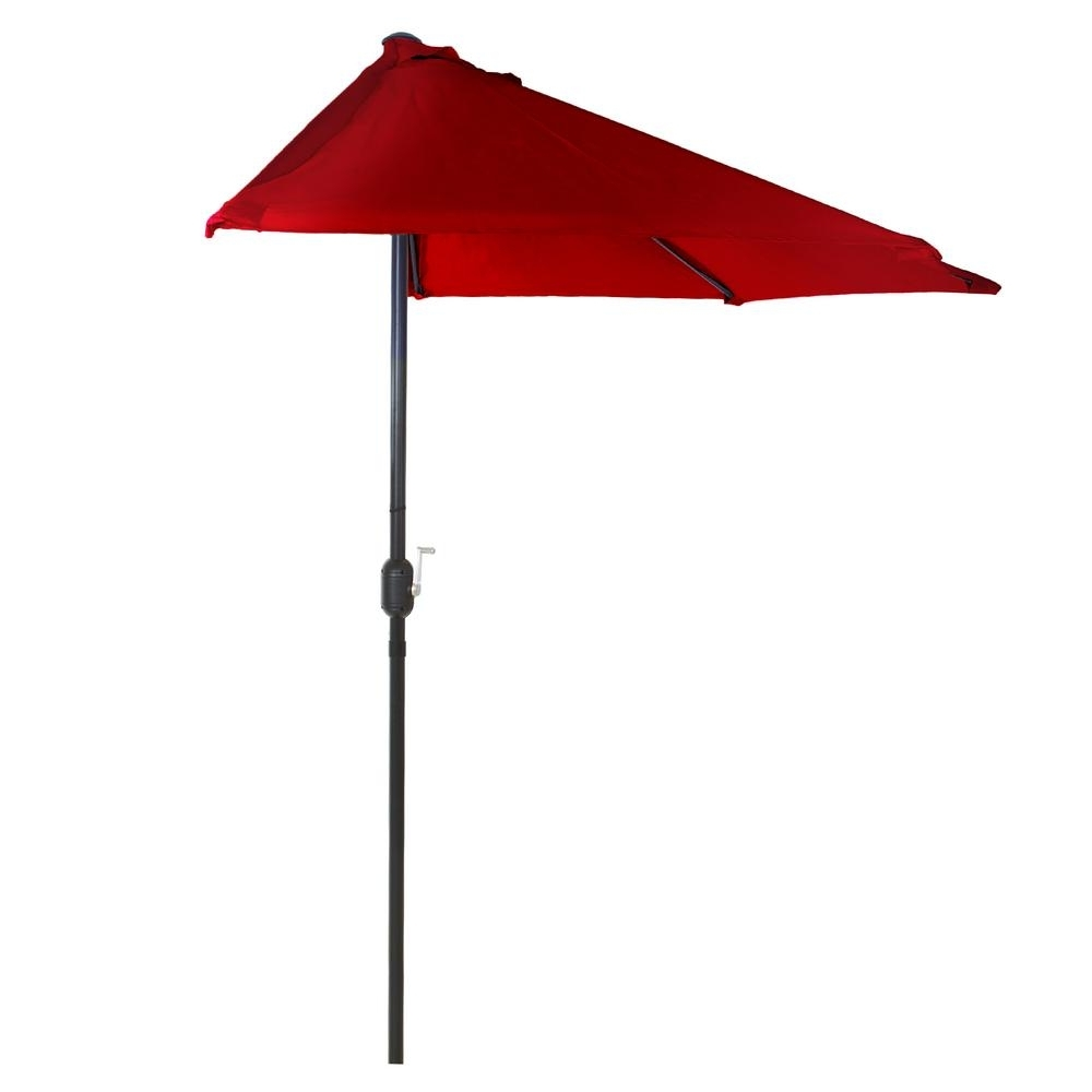 Well Known Half Patio Umbrellas With Regard To Pure Garden 9 Ft (View 18 of 20)