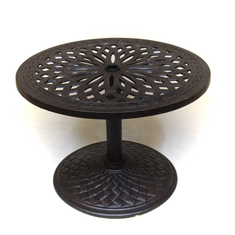 "Well Known Hanamint Mayfair 30"" Round Umbrella Side Table Outdoor Furniture Intended For Patio Umbrella Side Tables (View 19 of 20)"