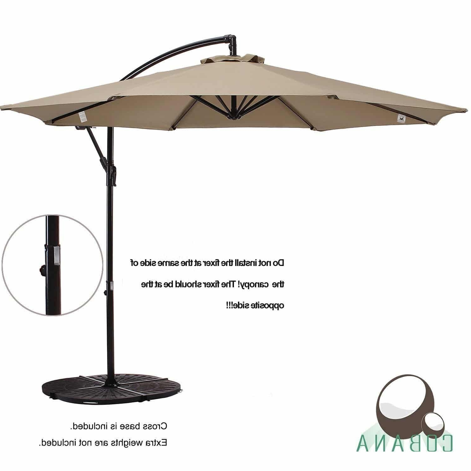 Well Known Hanging Patio Umbrellas With Top 10 Best Offset Patio Umbrellas 2018 – Buyer's Guide (April (View 18 of 20)