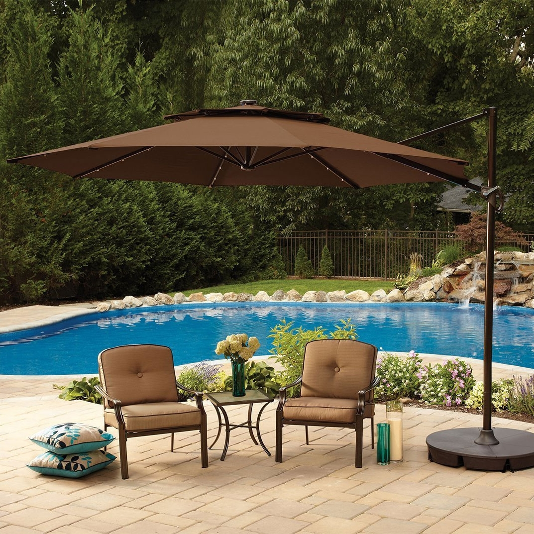 Well Known Large Patio Umbrellas In Large Patio Umbrellas In Square Shape – Carehomedecor (View 20 of 20)