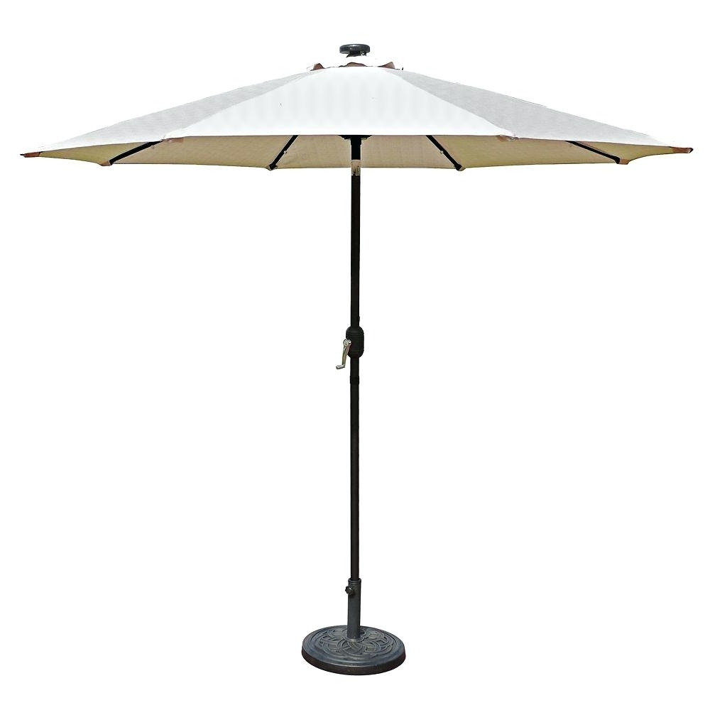 Well Known Lighted Umbrellas For Patio In Solar Lighted Umbrellas Market Solar Led Auto Tilt Patio Umbrella In (View 15 of 20)