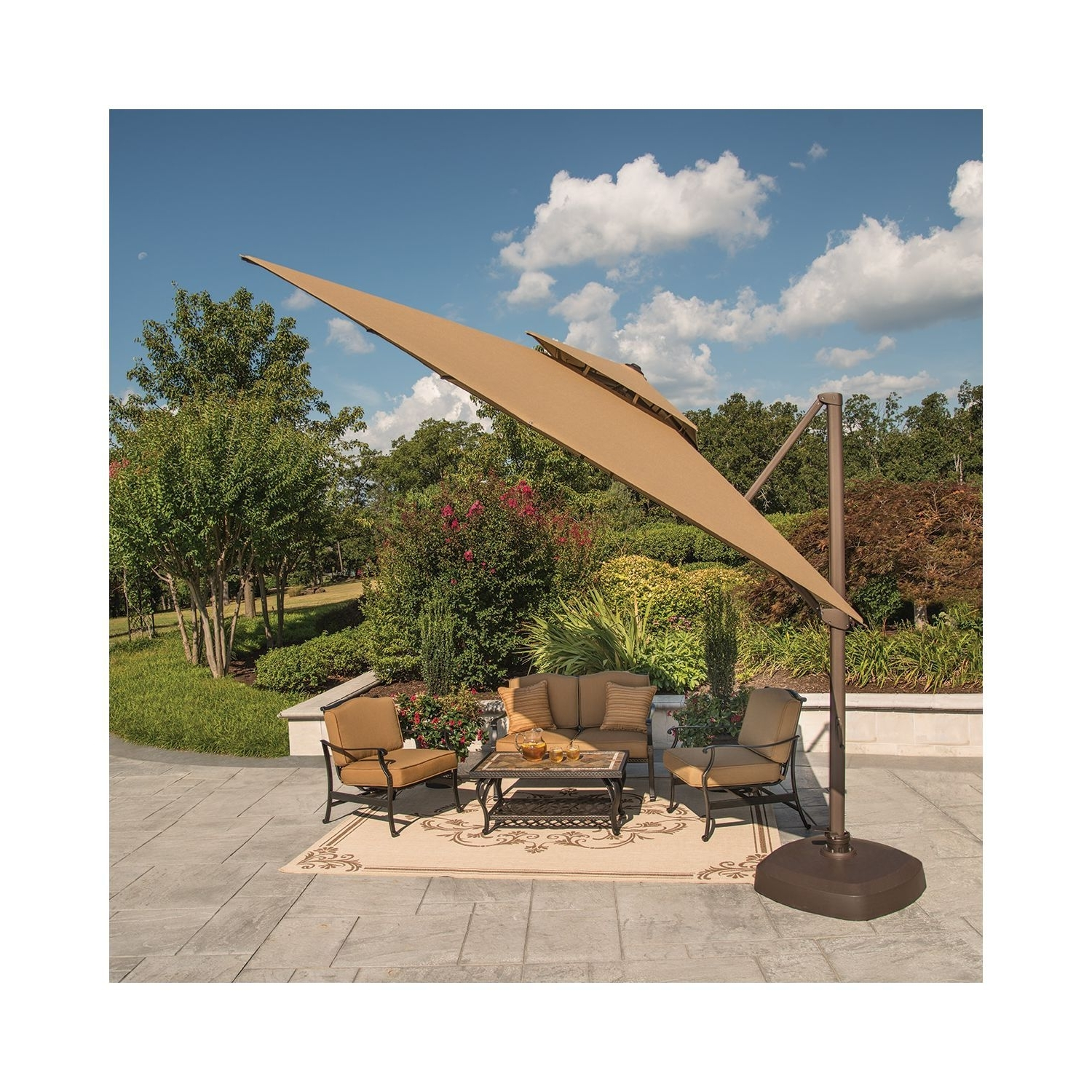 Well Known Member's Mark® 10 Foot Square Cantilever Umbrella With Premium Pertaining To Sams Club Patio Umbrellas (View 18 of 20)