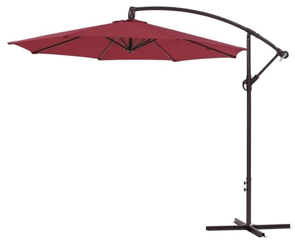 Well Known Offset Cantilever Patio Umbrellas With Top 10 Best Offset Patio Umbrellas (View 18 of 20)