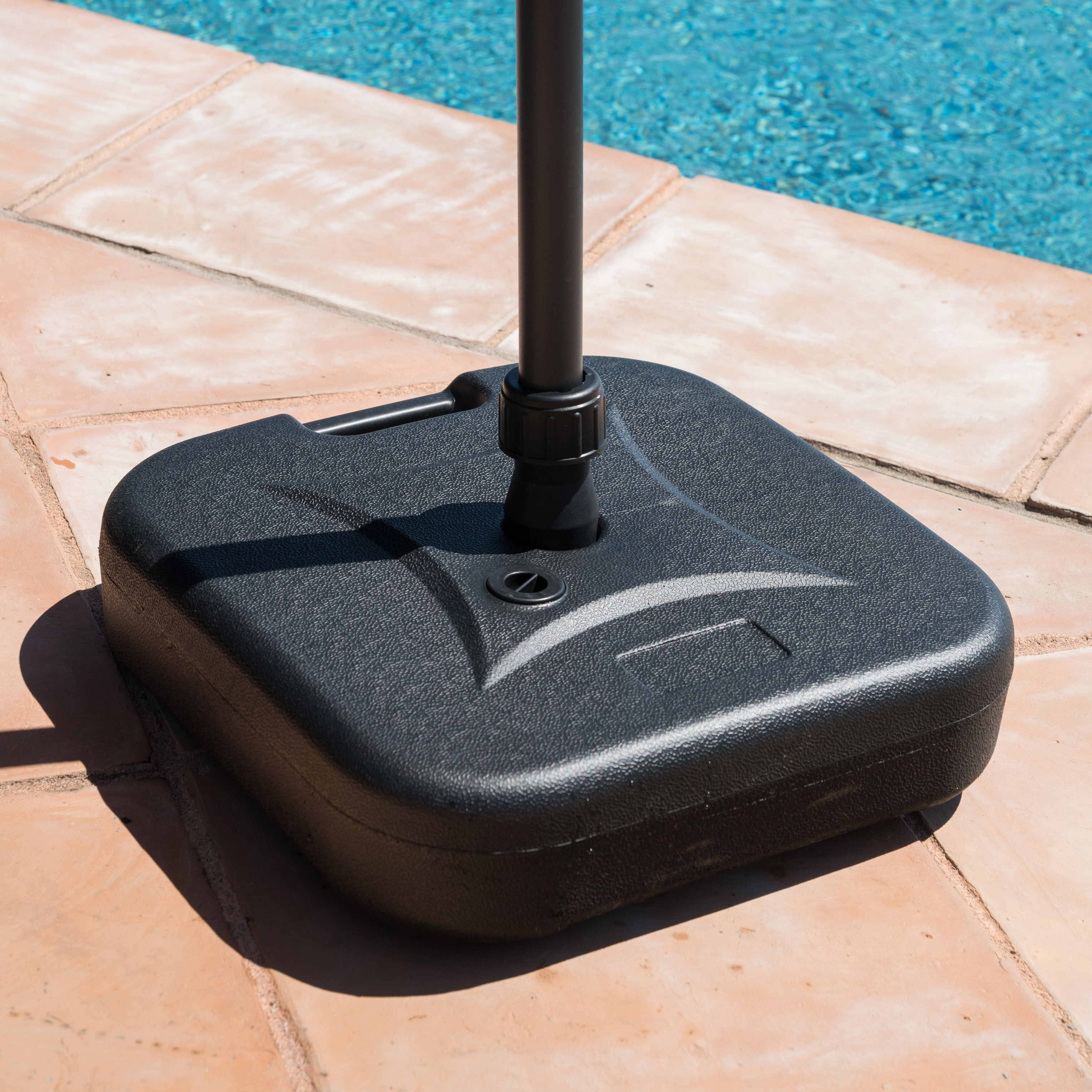 Well Known Patio Umbrella Stands With Wheels Inside Shop Corvus Napa Patio Umbrella Base With Sand Filling Capabilities (View 19 of 20)
