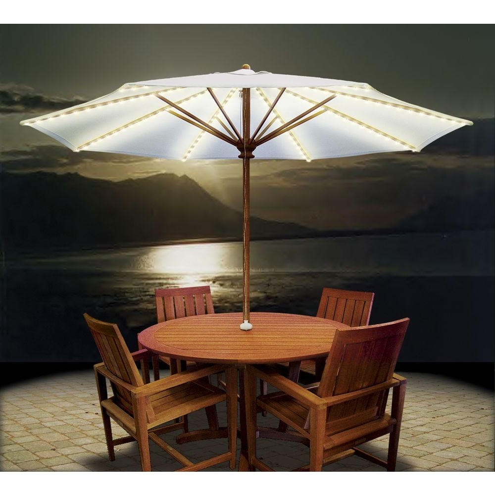 Well Known Patio Umbrellas For Tables With Regard To Stylish Patio Tables With Umbrellas Lights For Patio Umbrella (View 19 of 20)