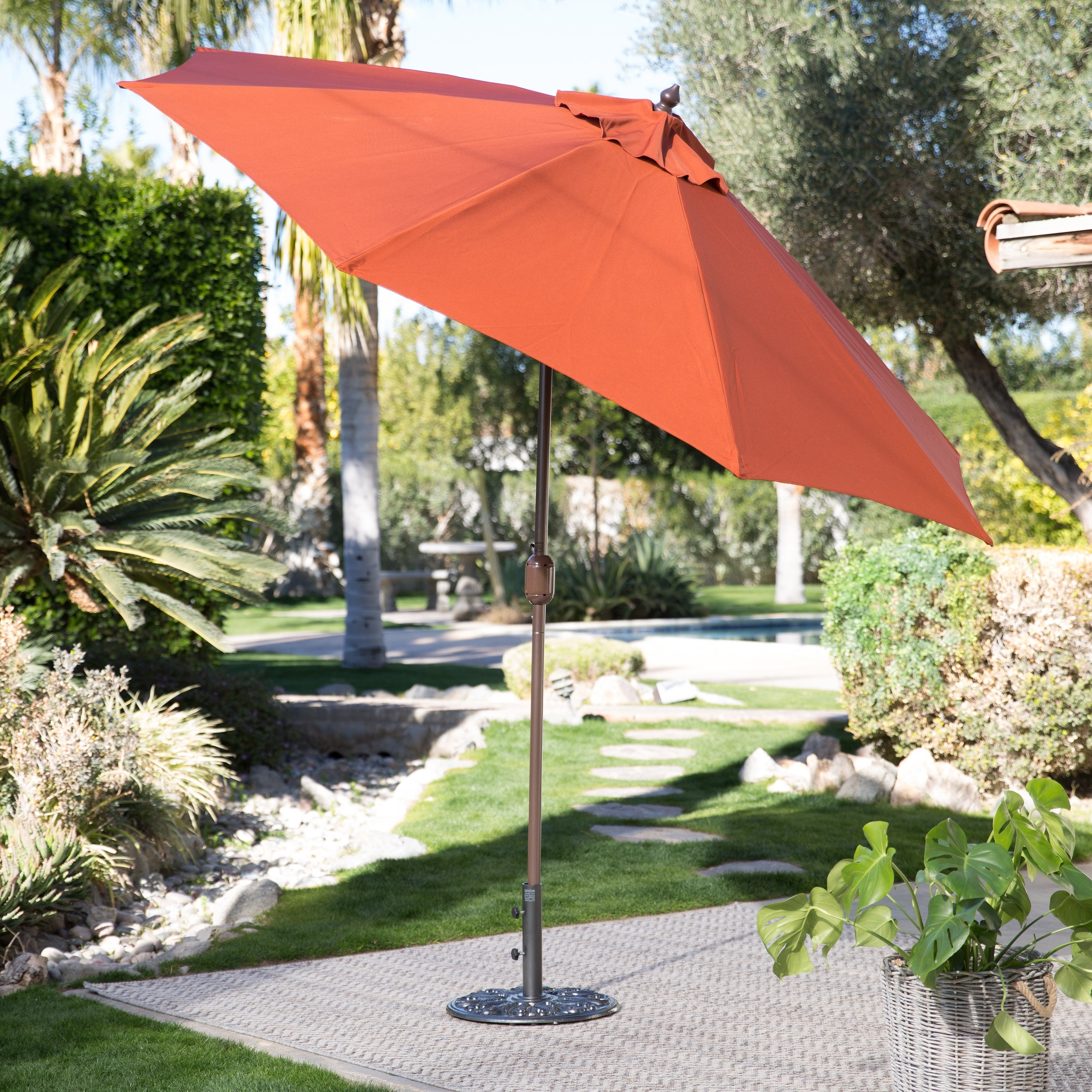 Well Known Patio Umbrellas For Windy Locations Inside Coral Coast 9 Ft (View 17 of 20)