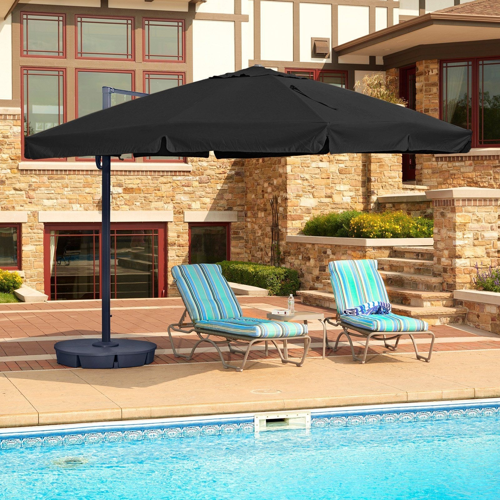Well Known Patio Umbrellas With Valance Inside Island Umbrella Santorini Ii 10 Ft (View 17 of 20)