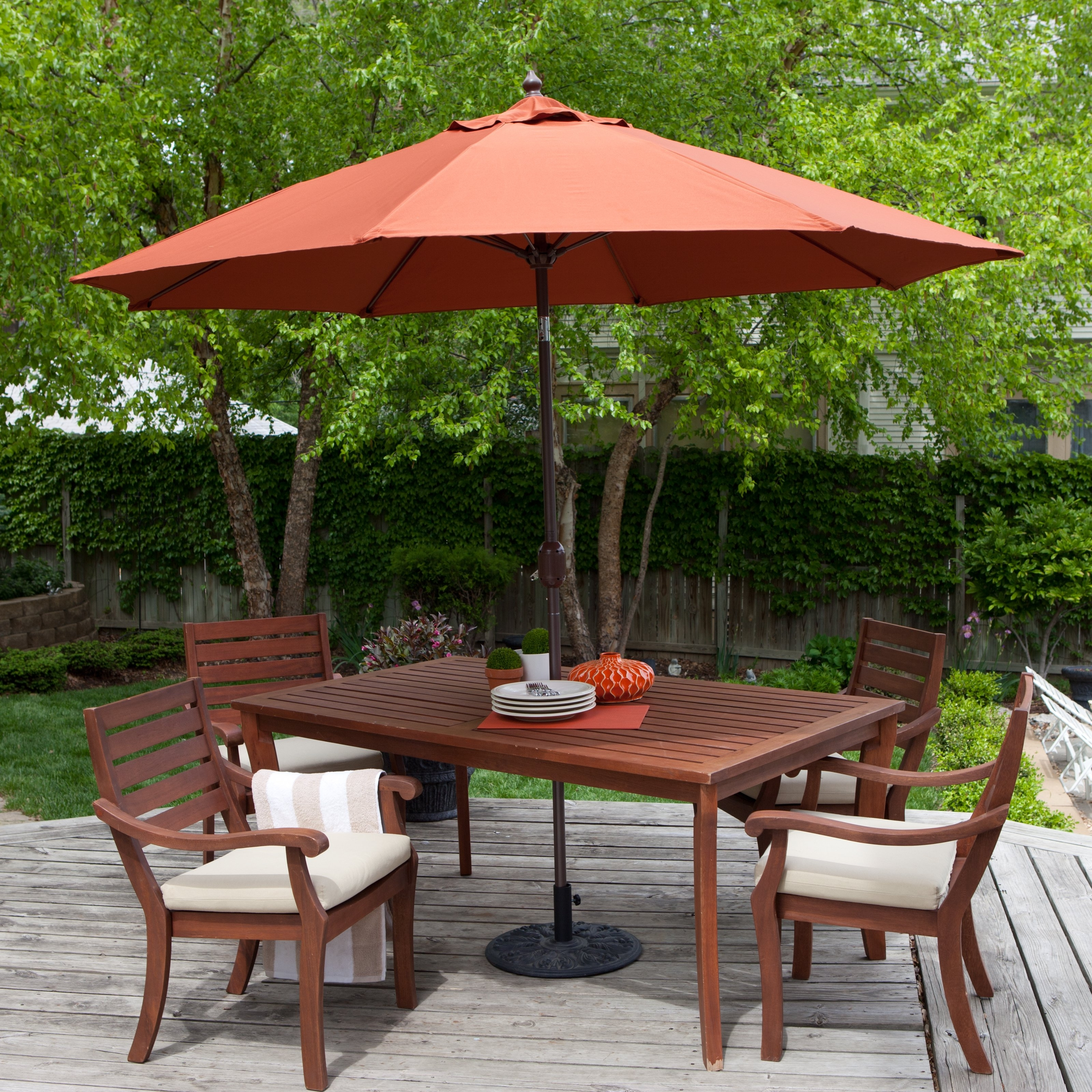 Well Known Patterned Patio Umbrellas In Coral Coast 9 Ft (View 18 of 20)