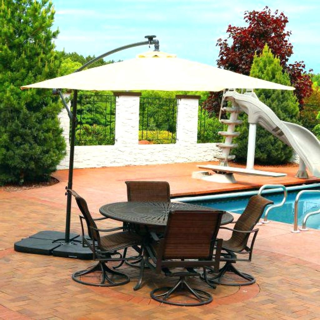 Well Known Rectangular Patio Umbrellas Regarding Decent Patio Umbrellas Clearance Fset Rectangular Lowes Chairs (View 18 of 20)