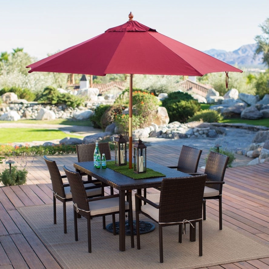 Well Known Red Patio Umbrellas Throughout Commercial Patio Umbrella Small : Ifso2016 – Cool Commercial (View 19 of 20)