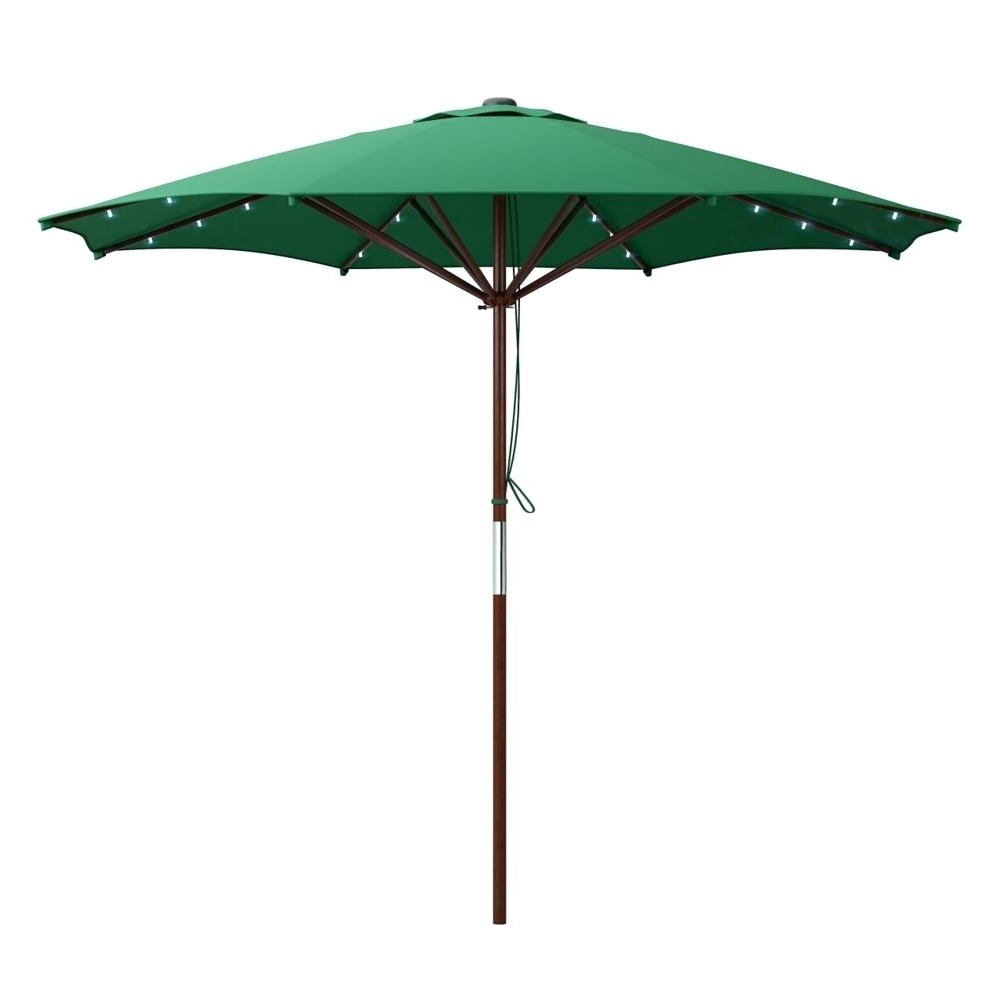 Well Known Sunbrella Patio Umbrellas With Solar Lights With Regard To Led Patio Umbrella Home Depot – Home Design (View 19 of 20)