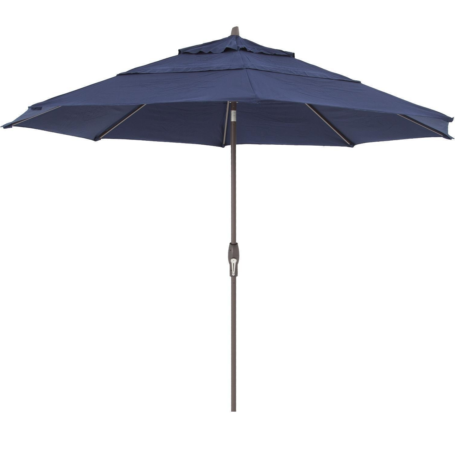 Well Known Vented Patio Umbrellas With Regard To Treasure Garden 11 Ft (View 20 of 20)