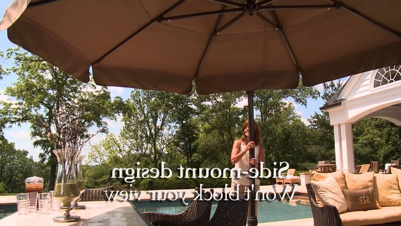 Well Liked 11 Ft Round Side Mount Umbrella – Youtube Regarding European Patio Umbrellas (View 18 of 20)
