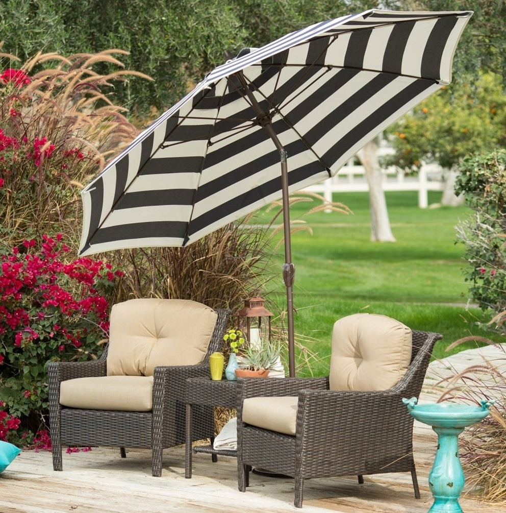 Well Liked 45 Black And White Striped Patio Umbrella, Striped Umbrella Ebay Within Black And White Striped Patio Umbrellas (View 18 of 20)