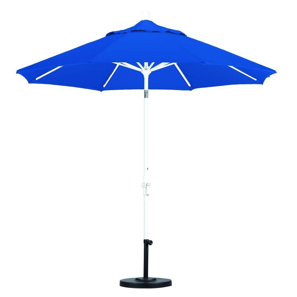 Well Liked 57 Blue Patio Umbrella, Patio Umbrella W/ Push Tilt Mechanism Throughout Blue Patio Umbrellas (View 19 of 20)