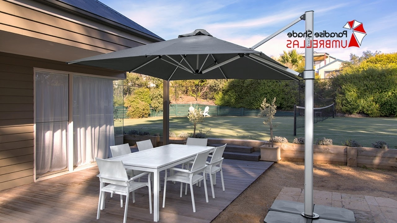 Well Liked Cantilever Umbrellas Gold Coast – Large Umbrellas – Youtube In Gold Coast Patio Umbrellas (Gallery 3 of 20)