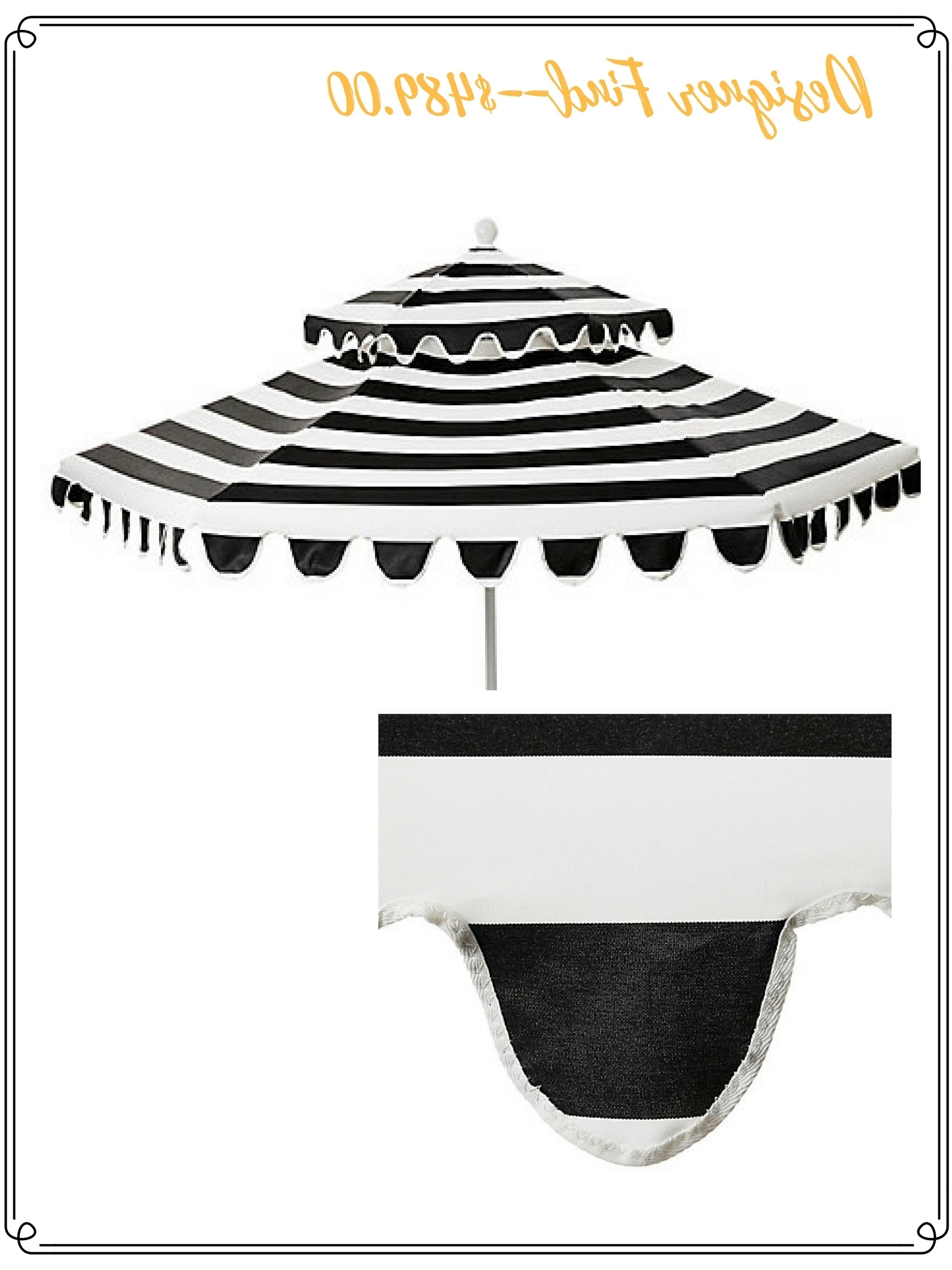 Well Liked High/low Options: Black & White Outdoor Umbrella (View 20 of 20)