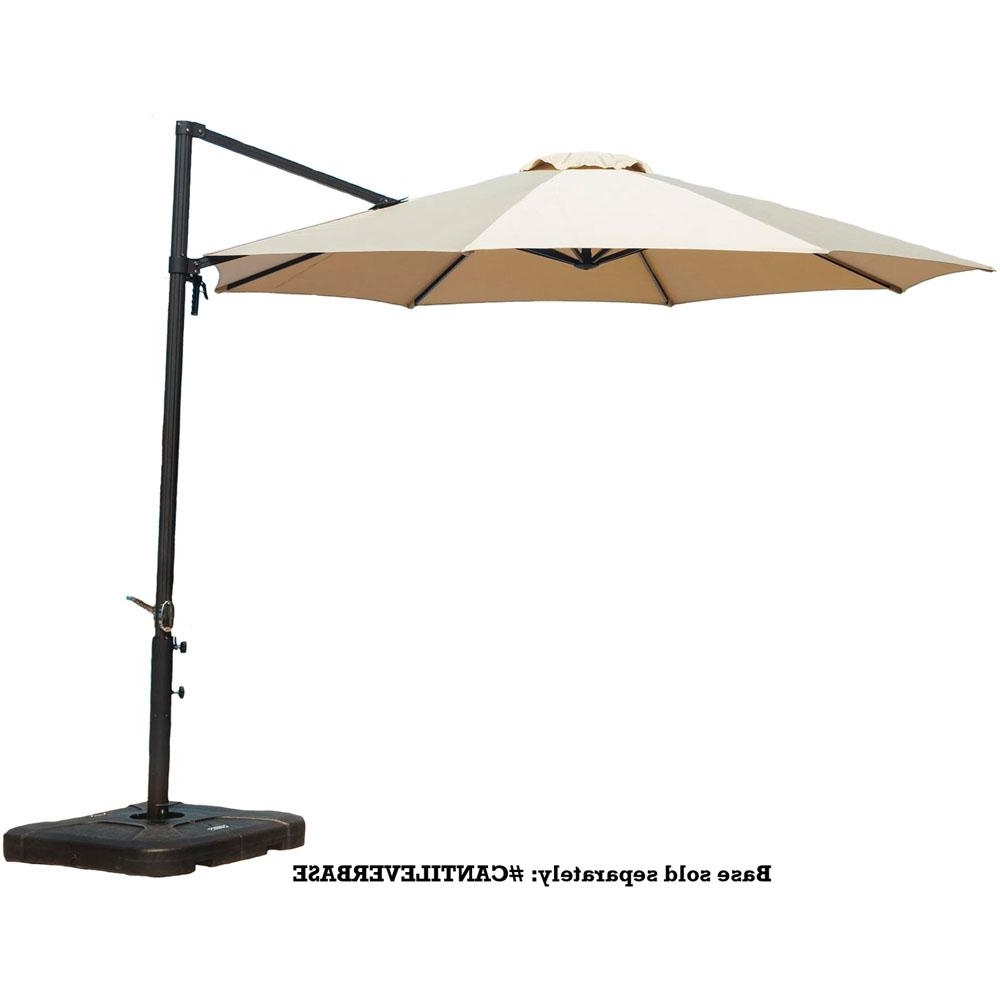 Well Liked Home Depot Patio Umbrellas Pertaining To Cambridge Cantilever 11 Ft (View 20 of 20)