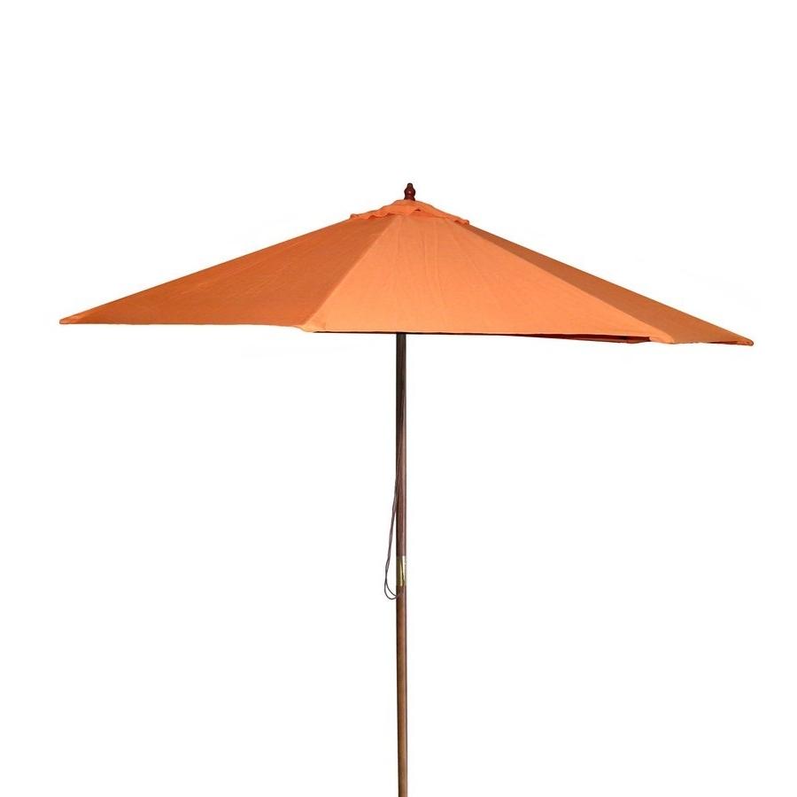 Well Liked Shop Jordan Manufacturing Orange Market 9 Ft Patio Umbrella At Lowes Within Jordan Patio Umbrellas (Gallery 3 of 20)