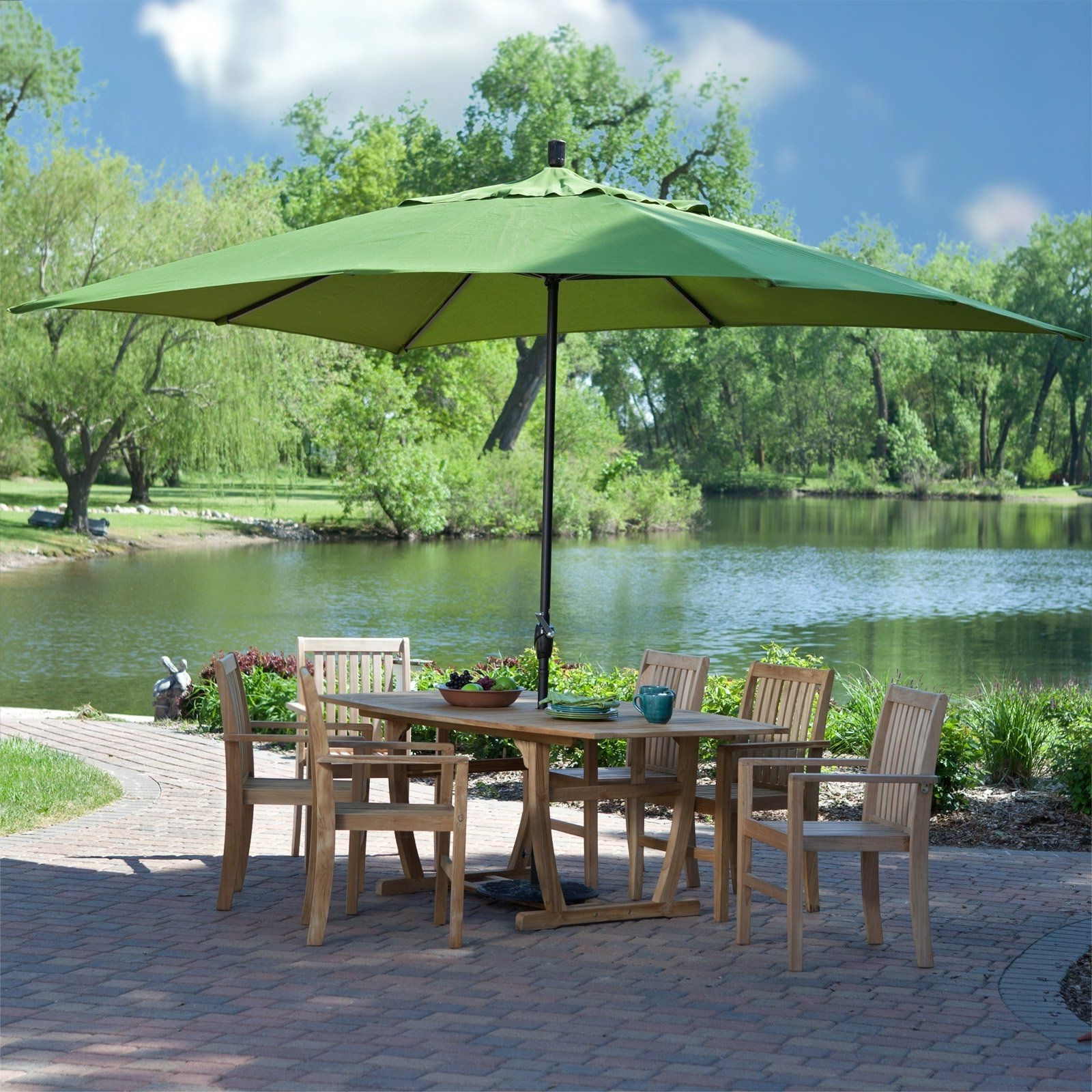 Well Liked Target Patio Umbrellas Throughout Have To Have It. Coral Coast 8 X 11 Ft (View 20 of 20)