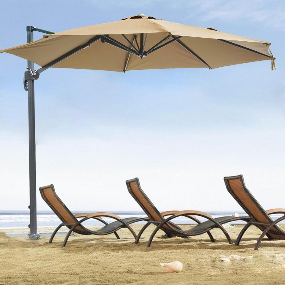 Widely Used 10' Roma Offset Patio Umbrella 8 Ribs 200G/sqm Outdoor Cantilever In Hanging Patio Umbrellas (View 19 of 20)