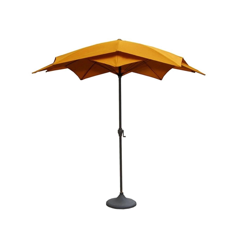 Widely Used 8.2' Outdoor Patio Lotus Umbrella With Hand Crank – Yellow (aluminum Inside Yellow Sunbrella Patio Umbrellas (Gallery 8 of 20)