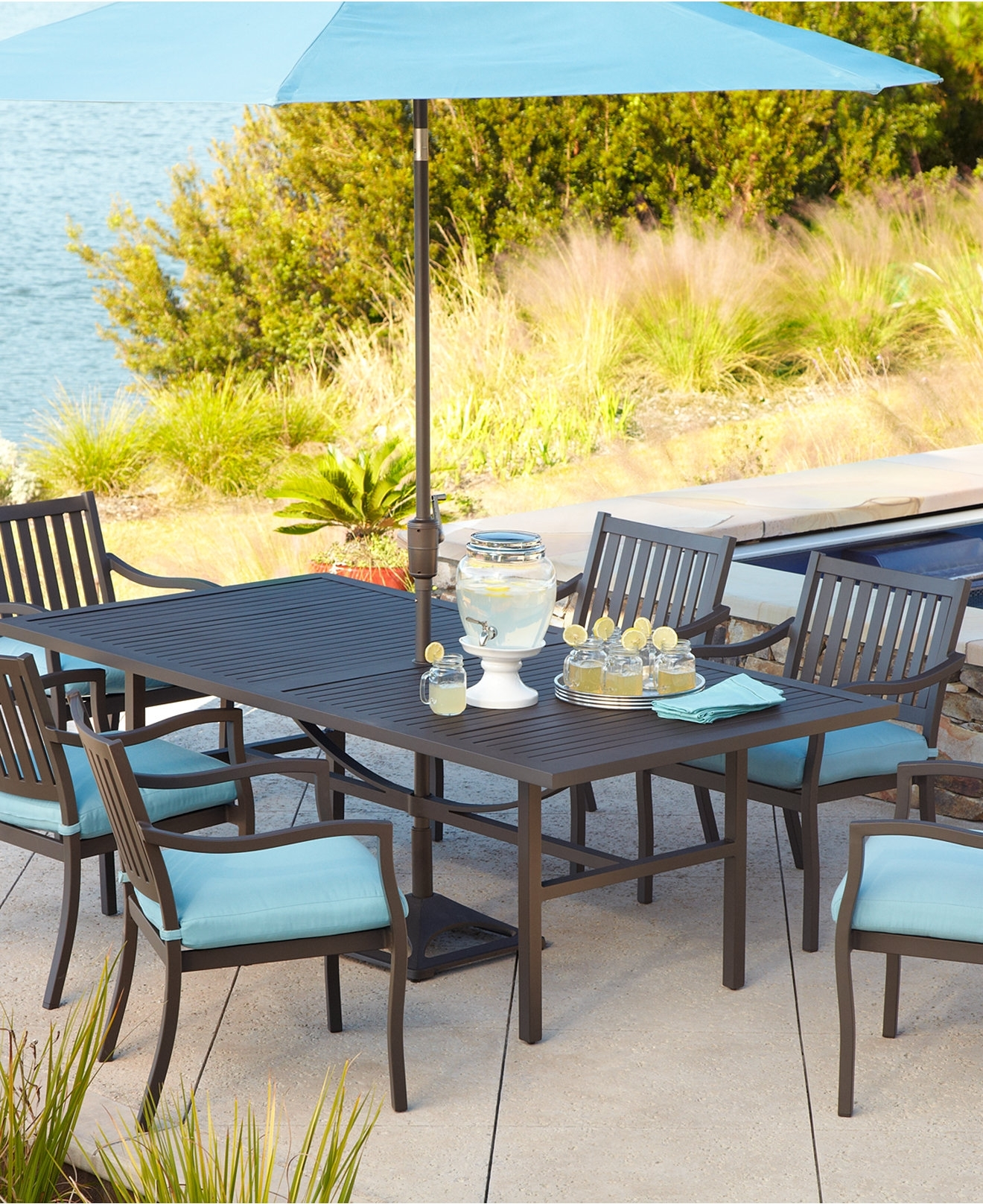 Widely Used Patio Dining Sets With Umbrellas With Round Patio Dining Sets Small Table With Umbrella Hole Aluminum Set (View 20 of 20)