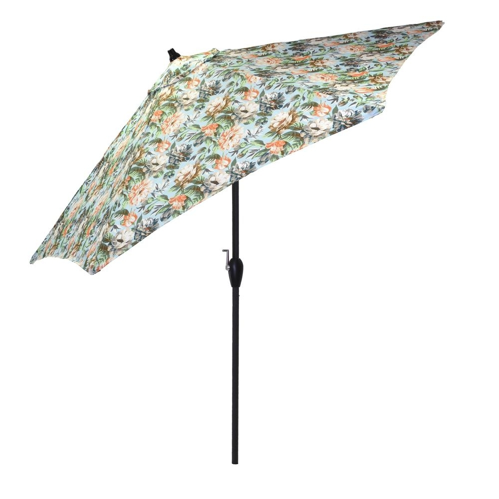Widely Used Patterned Patio Umbrellas Within Plantation Patterns 9 Ft (View 20 of 20)