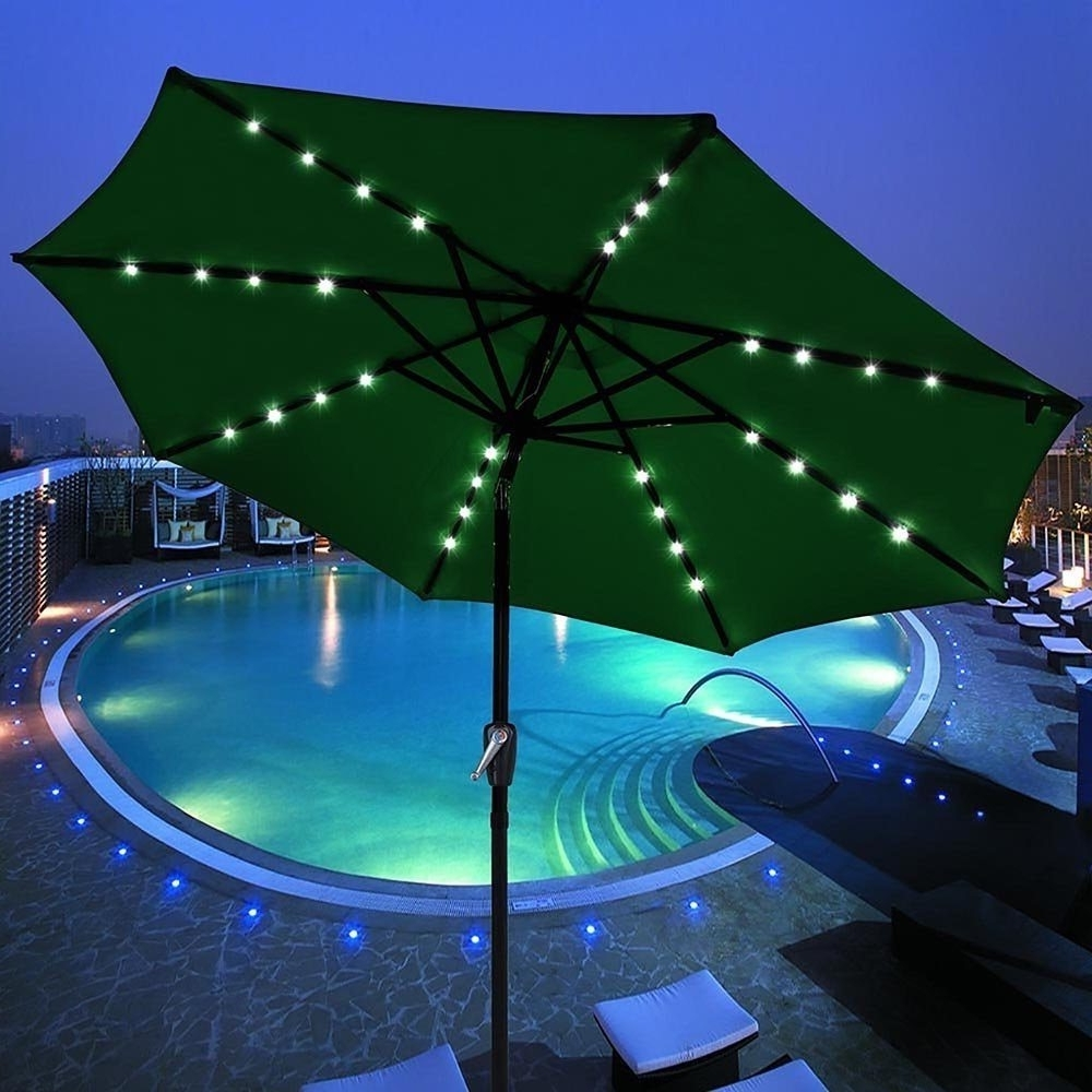 Widely Used Solar Powered Patio Umbrellas Regarding Solar Powered Patio Umbrella » Gadget Flow (View 11 of 20)