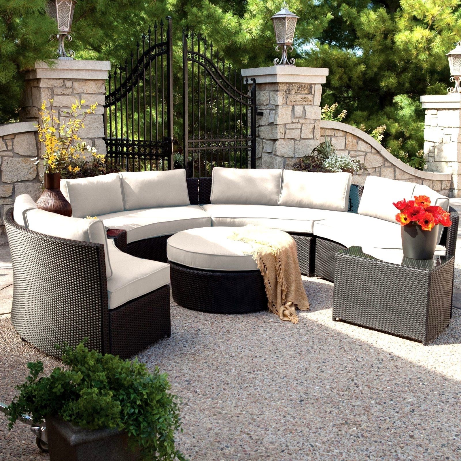 Widely Used Sunbrella Outdoor Furniture Awesome Outdoor Furniture Cushions With Sunbrella Black Patio Umbrellas (View 20 of 20)