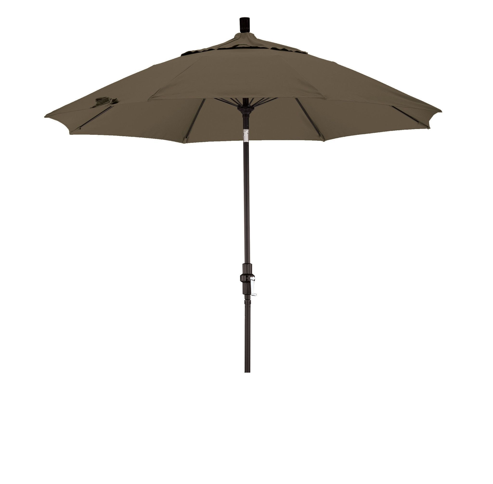 Widely Used Sunbrella Teak Umbrellas For Eclipse Collection 9' Fiberglass Market Umbrella Collar Tilt M Black (View 20 of 20)