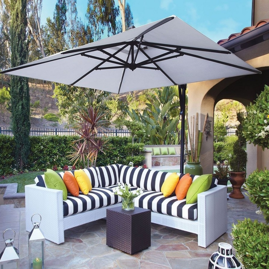 Widely Used Treasure Garden 10' Square Cantilever Umbrella Intended For Square Cantilever Patio Umbrellas (View 6 of 20)