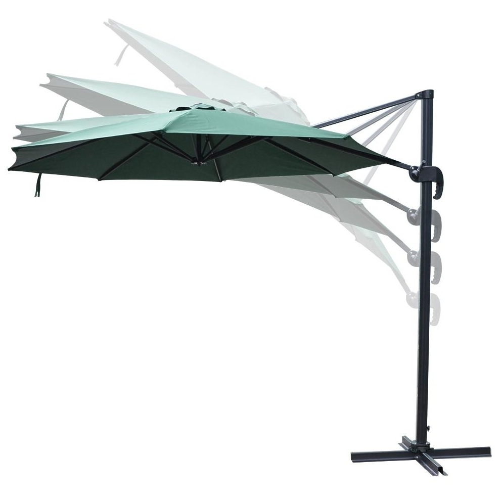 Widely Used Yescom Patio Umbrellas Inside Yescom 10ft Green Hanging Offset Roma Outdoor Patio Umbrella Uv30+ (View 8 of 20)