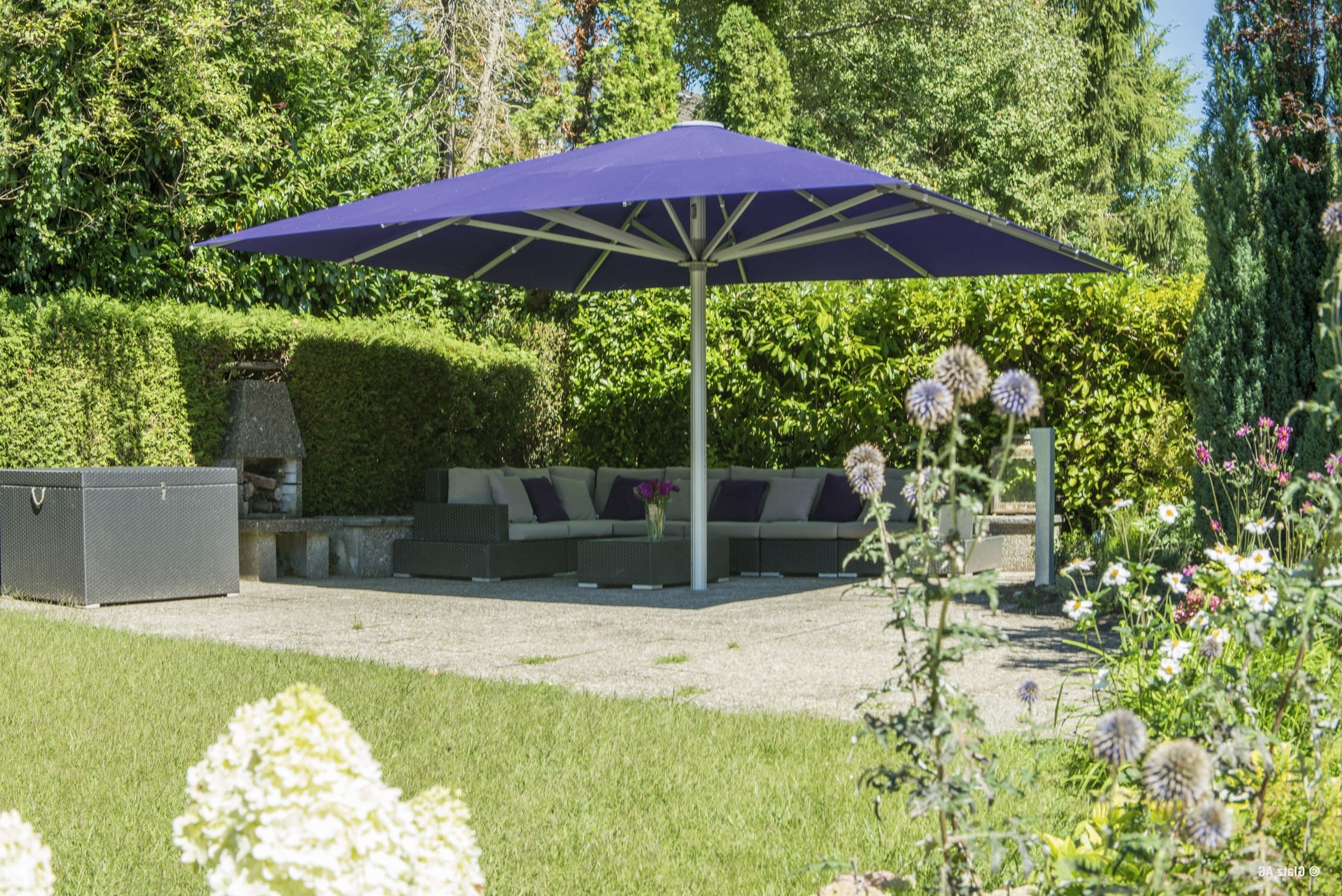Wind Resistant Patio Umbrellas With Regard To Most Popular High Wind Patio Umbrellas • Patio Ideas (View 20 of 20)