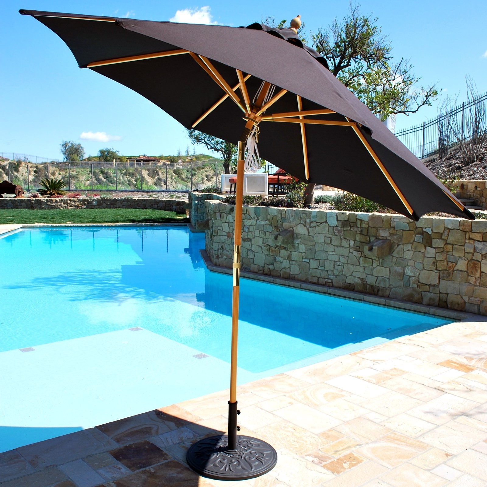 Wood Patio Umbrellas Custom Wooden Patio Umbrellas – Home Design Ideas In Most Popular Wooden Patio Umbrellas (View 15 of 20)