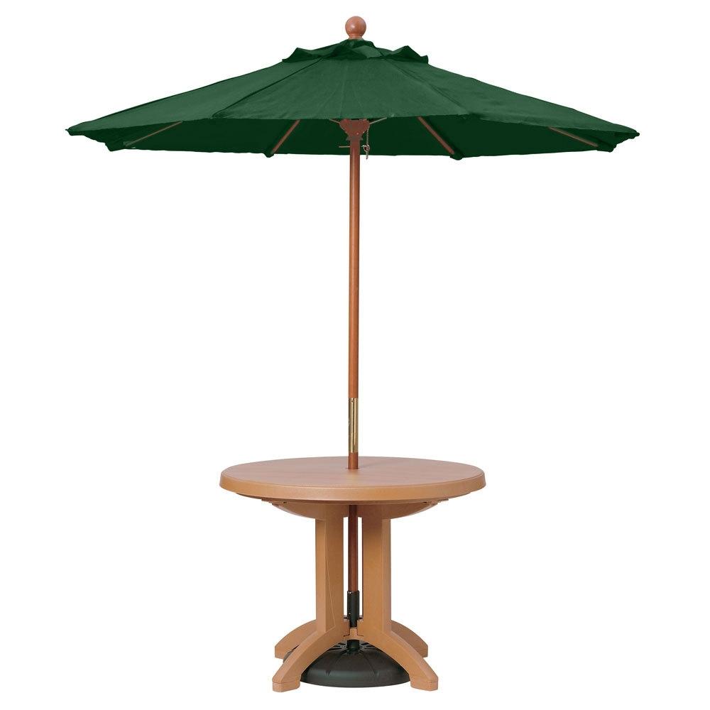 Wood Pole Patio Umbrellas With Regard To Recent Jordan Patio Umbrellas (View 20 of 20)