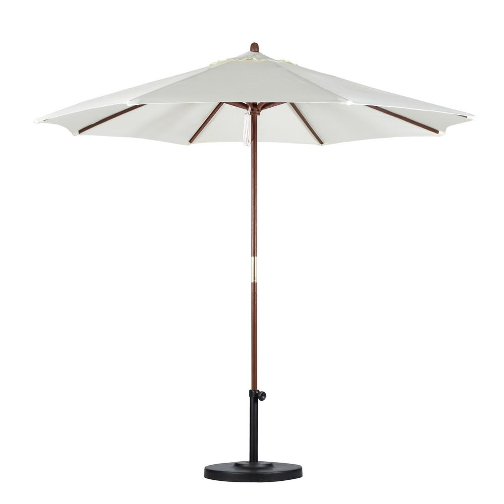 Wooden Patio Umbrellas Throughout Most Recently Released California Umbrella 9 Ft (View 19 of 20)