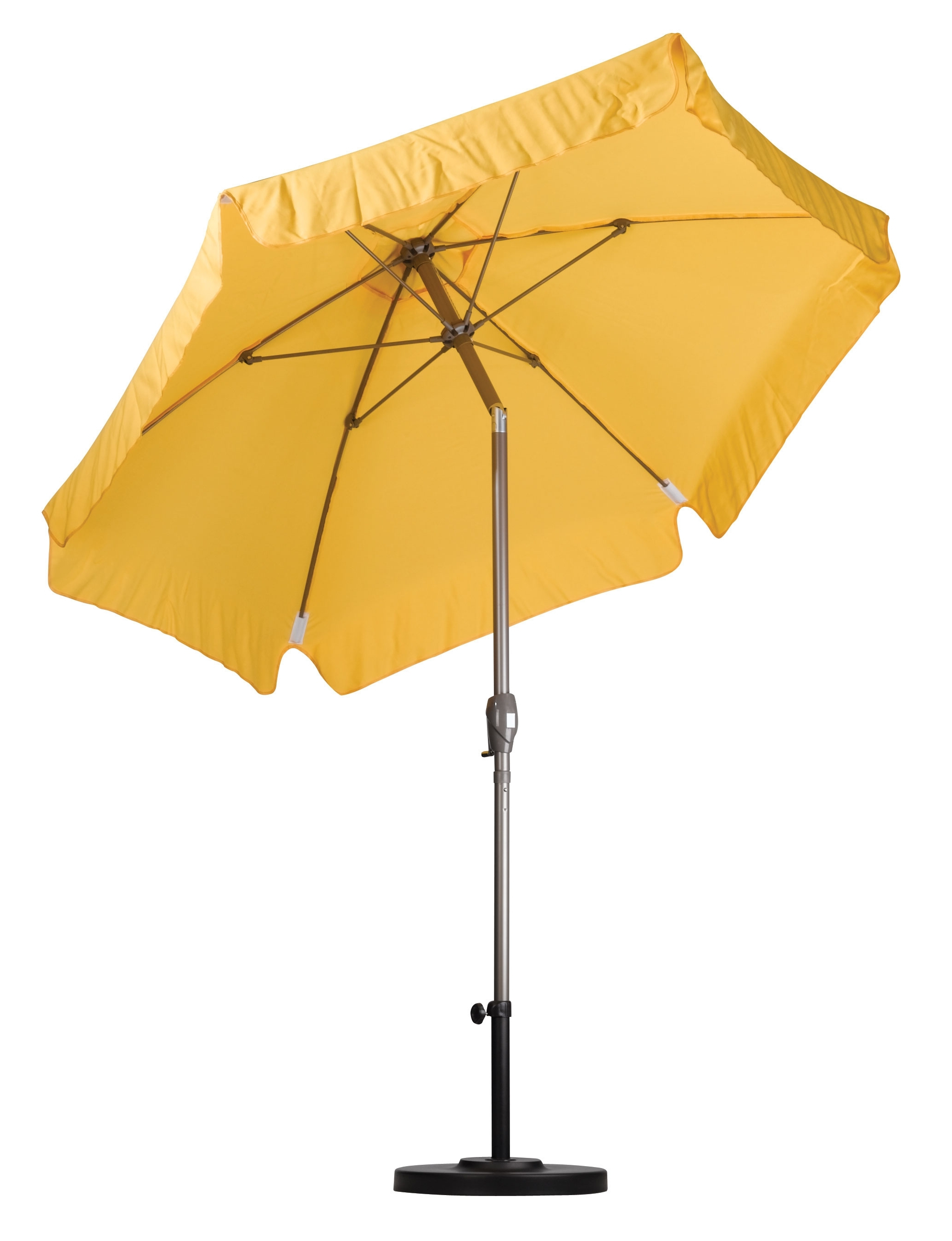 Yellow Patio Umbrellas With Regard To Famous Aluminum 7.5 Yellow Patio Market Umbrella With Stand, Canopy, Outdoor (Gallery 5 of 20)