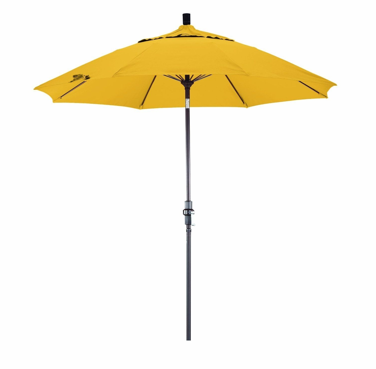 Yellow Sunbrella Patio Umbrellas For Trendy I Wouldn't Mind This Yellow Umbrella For My Porch. (Gallery 19 of 20)